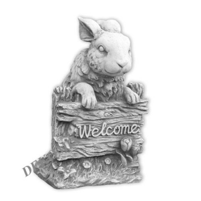 "Hase am Zaun  ""Welcome"""